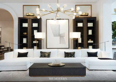 Restoration Hardware Architecture Modern Living Room
